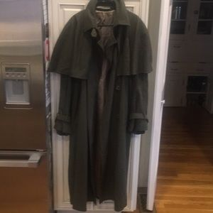 Other - Nice Wool Blend Army Green Trench Coat.